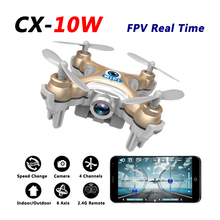 CX-10W Mini Drone With FPV Real Time HD Camera Wifi Phone Remote Control Throw Up to Fly 4CH 6Axis RC Helicopter Quadcopter Toys