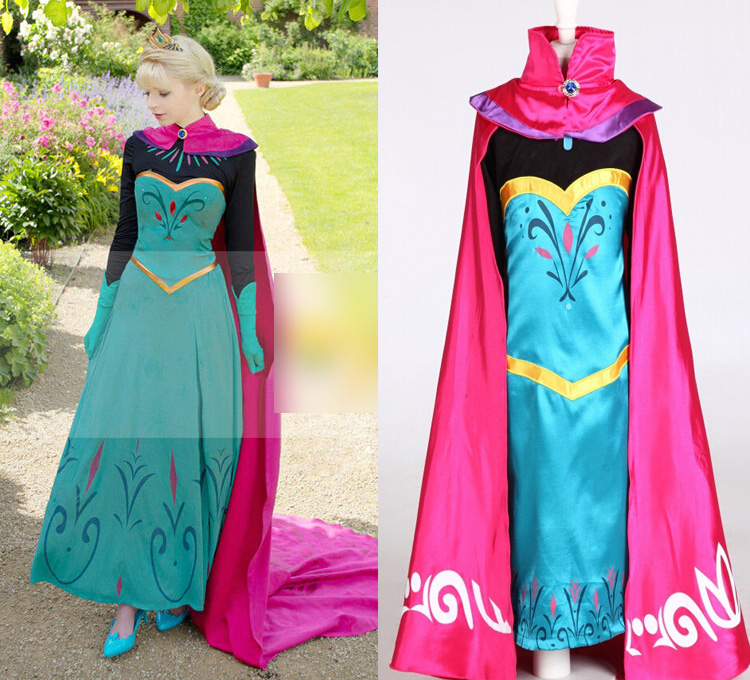 Cosplay Elsa Anna Coronation Dress Baby Girls Costume Kids Fantasia Clothes Easter Day Dress With Cape Disfraz(China (Mainland))