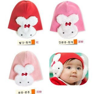 10pcs/lot 30% discount Hot selling children's caps/ beanie hats /cap chapeau/ dicer hat /headgear /baby hat rabbit hoodies/