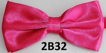 2015 Latest Rose Red Bow Tie Male Marriage Solid Color Bow Tie Candy Color Butterfly Cravat Men's Accessories Bowtie Butterflies