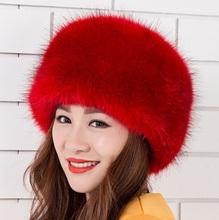 2014 Winter Faux Fox fur Hats for Women,Women Fox Fur Hats Cap,Ladies Winter Faux Mink fur Hat Women Winter Beanie Free Shipping(China (Mainland))