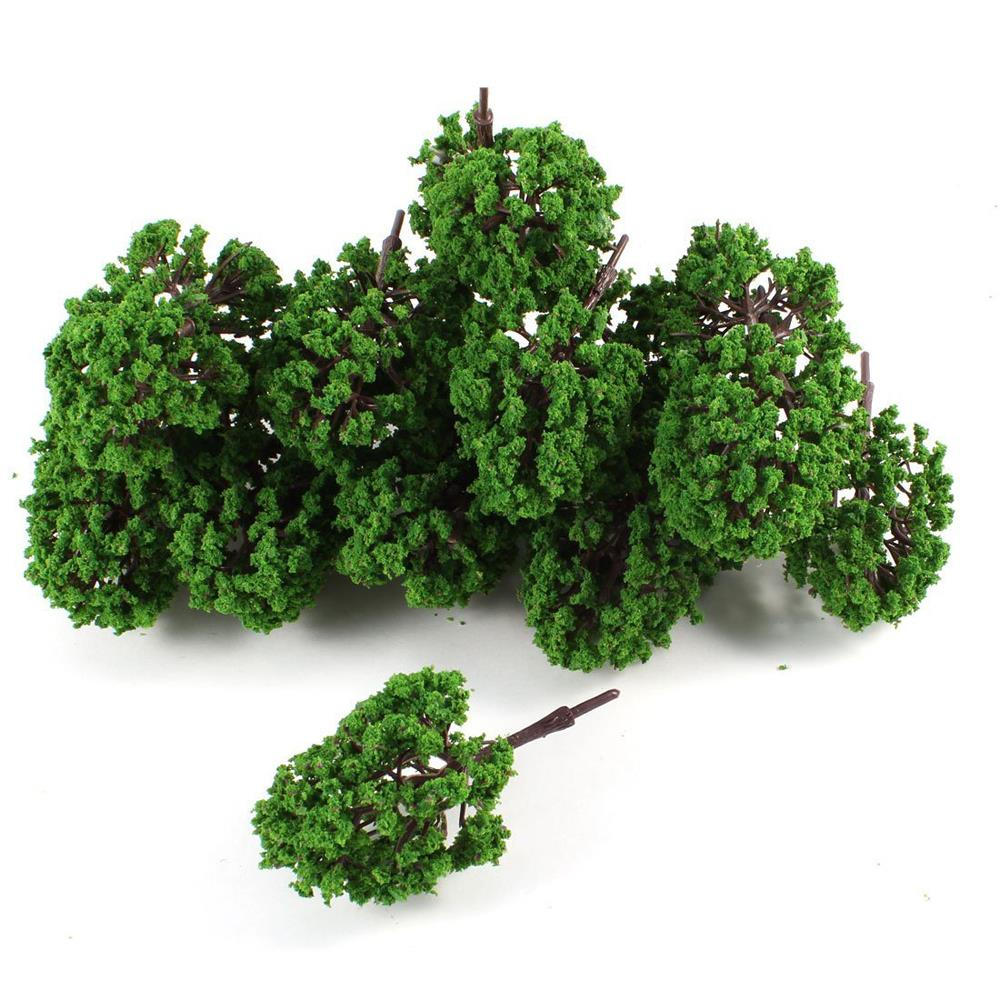 """NEW FREE SHIPPING 20Pcs Artificial Plastic Green Leaf Model Tree 9.5cm 3.7"""" High 1:100(China (Mainland))"""