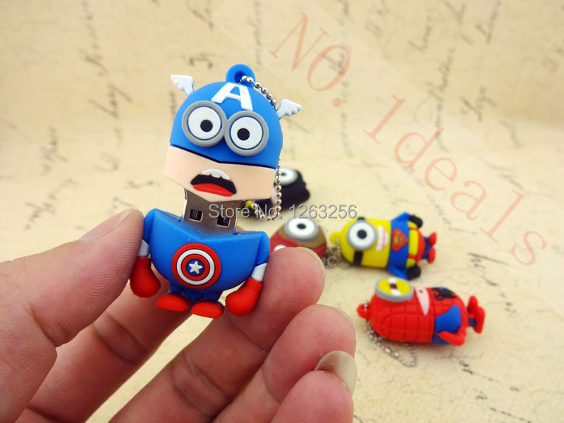 Pen drive cartoon super heros minions usb 2 0 flash memory stick pendrive 4GB 8GB 16GB