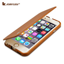 """Jisoncase Genuine Leather Flip Case for iPhone 6 plus 6s plus 5.5"""" Stand Book Style Case Luxury Brand Cover for iPhone 6s plus(China (Mainland))"""
