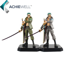 Anime One Piece Roronoa Zoro Military Style 22cm PVC Action Figure Camouflage Coat Model Cartoon Toys Kid Gift Dolls - Achiewell Toy store