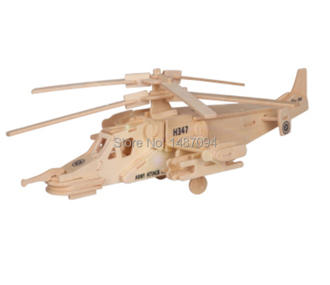 Shark Toys For Adults : Black shark combat aircraft d wooden puzzle jigsaw