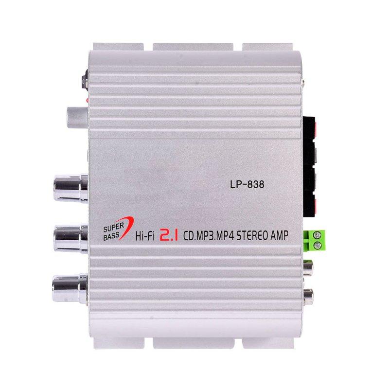 12V 200W Mini Hi-Fi CD MP3 Radio Car Auto Motorcycle Home Audio Stereo Bass Speaker LP-838 Amplifier Player Free Shipping