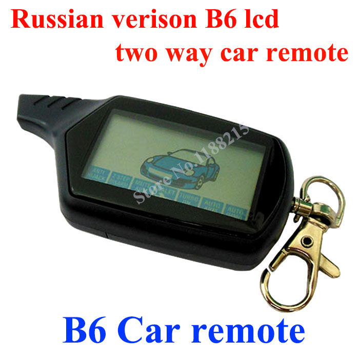 Russian version Twage B6 LCD Remote for B6 car remote controller two way car alarm system free shipping(China (Mainland))