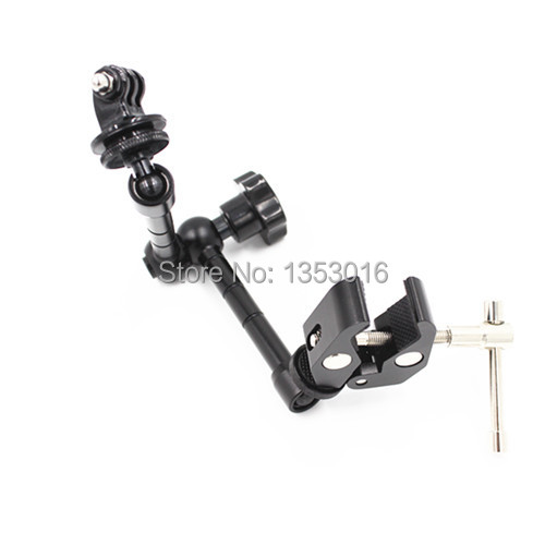 Gopro Accessories 360 Degree Adjustment Arm Mount Adapter+Bike Bicycle/Motorcycle Handlebar Crab Clamp For Go Pro Hero 4 3 3+ SJ