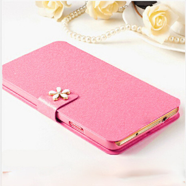 New Silk Pattern PU Leather Cellphone Shell Stand CaseFor HTC Desire 610 Phone Case For HTC Desire 610 610T