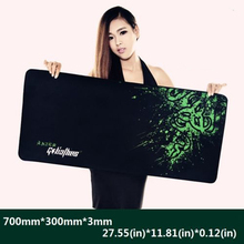 Free shipping New Rubber Razer Goliathus Mantis Speed Game Mouse Pad Mat Large XL Size 700*300*3MM(China (Mainland))