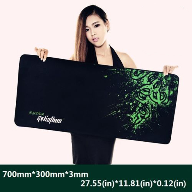 New Rubber Razer Goliathus Mantis Speed Game Mouse Pad Mat Large XL Size 700*300*3MM Free Shipping(China (Mainland))