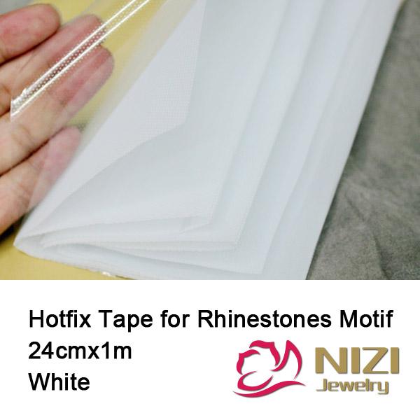 Mylar Tape 24cm x 1m Hotfix Transfer Paper Rhinestone Tape Pvc Plastic With PET Glue Good Quality for Hotfix Rhinestones Motif(China (Mainland))