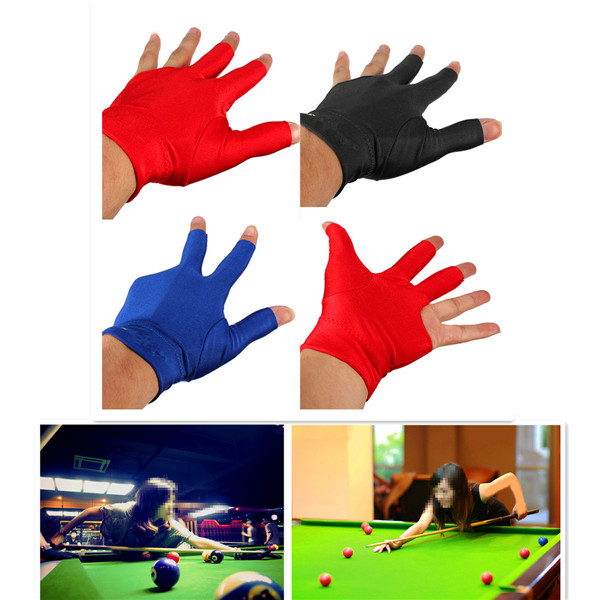 Elastic Spandex Cue Glove Mittens Pool Left Hand Three Fingers Accessory for Snooker Billiard(China (Mainland))