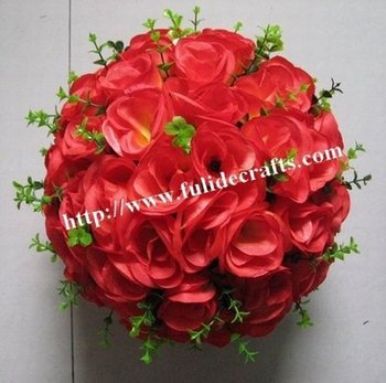 20cm wine red  newly kissing flower decoration ball,wedding flower ball,bride flowers