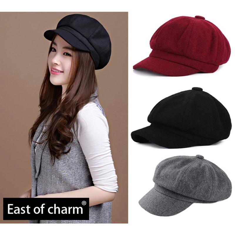 High Quality Fashion Artist Wool Women Beret Hat For Women Cap Female Cap Casual Dome Bare Color Chapeu Feminino Boina(China (Mainland))