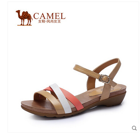 CAMEL new popular girl's sandals slip resistant casual and comfortable leather shoes A52196609(China (Mainland))