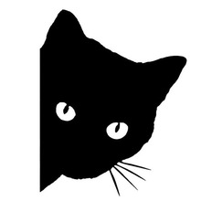 12*15CM CAT FACE PEERING Car Sticker Decals Pet Cat Motorcycle Decorative Stickers Car Window Decals C2-0089(China (Mainland))