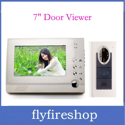 "New 7"" TFT display screen Digital door viewer 6 IR LED nightvision Handfree Intercom Doorbell Peephole Viewer"