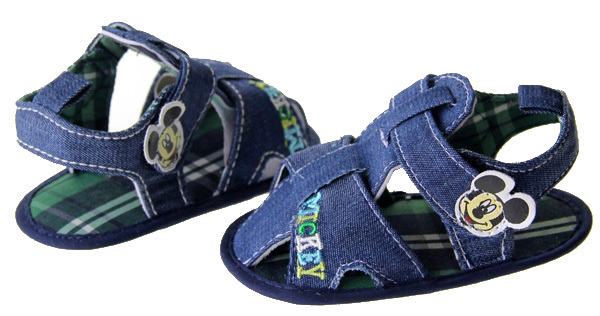 Hs083 baby boy blue cotton mouse sandal shoes first walkers shoes size home shoes 2 3 4 in US(China (Mainland))