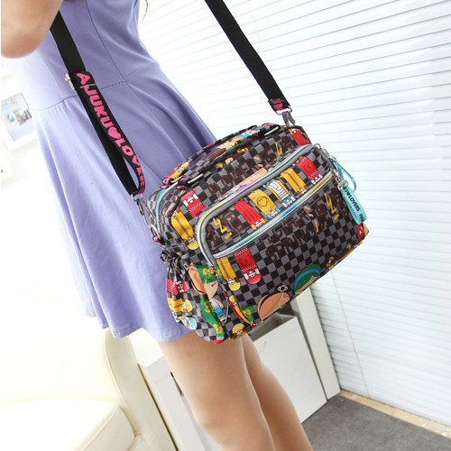 Fashion design and color nylon bag Zipper more leisure inclined shoulder bag women bags Handy leisure packages hand bags(China (Mainland))