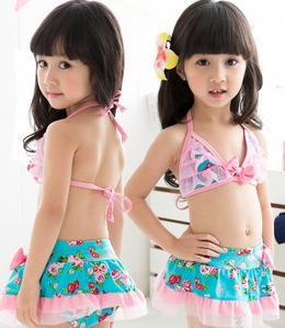 2015 новое поступление детей девушки бикини устанавливает купальник детская одежда для девочек купальники жилет + юбка две части 2 - 6 т kp-15025