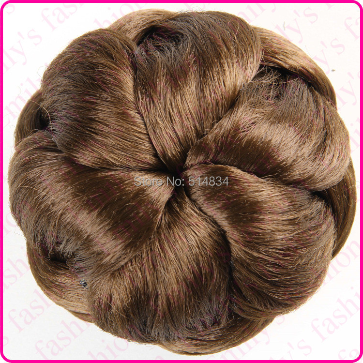 J76 Synthetic Blonde Dome Chignon twist hair bun extension hairpiece hair buns braid hair pieces bun(China (Mainland))