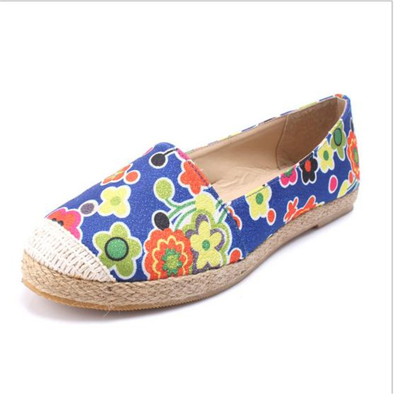 Flats Canvas shoes 2015 New Graffiti Hand-painted Casual Shoes Leisure Woman  free Picture One Size women's shoes