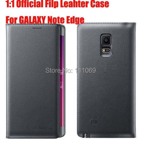 10x Original Flip Leather Case Samsung Galaxy Note Edge N9150 Smart wallet Cover retail box - XinJinDa Electronics Technology Co., Ltd. store