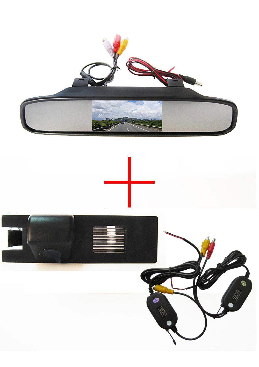 Wireless Car Rear View Camera for OPEL Astra H/Corsa D/Meriva A/Vectra C/Zafira B,FIAT Grande+4.3Inch rearview Mirror Monitor(China (Mainland))