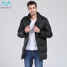 High Quality Warm Man Winter Duck Down Jacket Long Men Parka Coat With Hood,Plus size 5XL 6XL 7XL 8XL Free Shipping