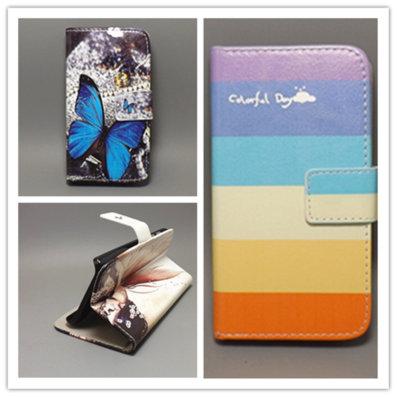 New Butterfly Flower Flag Designer Wallet Flip Stand Book Cover Case for blackberry q5 free shpping()