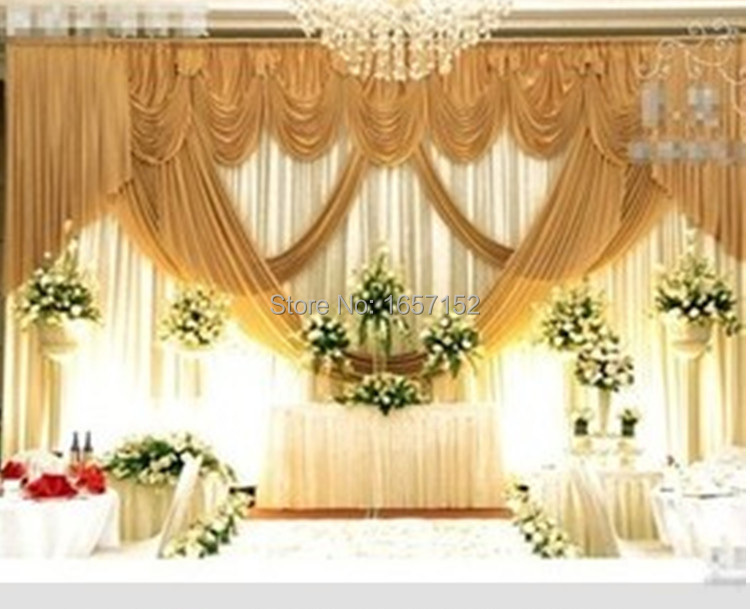 Buy gold wedding backdrop wholesale stage for Backdrop decoration