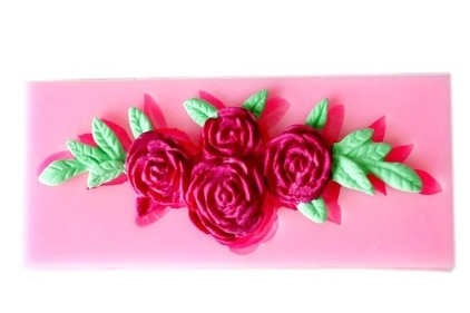 2014 Limited Top Fashion Stocked Christmas Christmas Decoration Silicone Mold Cake Soap Polymer Clay Roses Four Leaves Tools(China (Mainland))