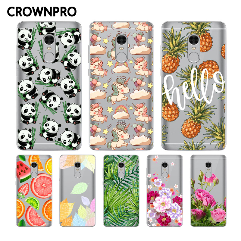 CROWNPRO Soft Silicon Xiaomi Redmi Note 4 Case Cover Painted Protective Back TPU Phone Fundas Xiaomi Redmi Note 4 Case