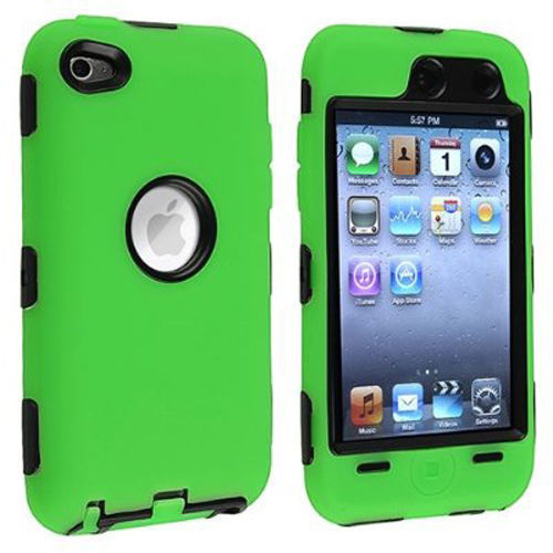 HOT!!!1Pcs/$1.59 Rugged Rubber + PC Hard 3 in 1 Case robot Cover For Apple Ipod Touch 4 4th Generation High Quaity Free Shipping(China (Mainland))