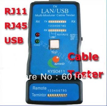 LAN / USB Multi-Modular PC Network Cable Tester RJ45/RJ11/RJ15/USB Tester