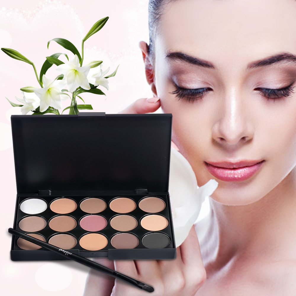 Natural 15 Colors Eye shadow Comestic Long Lasting Makeup Eyeshadow Palette Matte Brand For Women 3 patterns For Choose(China (Mainland))