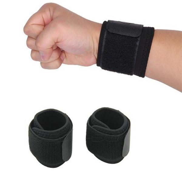 1pair Adjustable Elastic Wrist Support Bracer Protect Wrapping Strap Reliable Weight Lifting Cuff Wrist Guard Wristguard Bandage(China (Mainland))