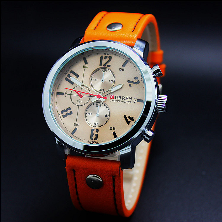 Relogioes best selling men sports military watches leather for Nice watch for boyfriend