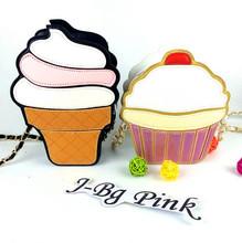 2016 new female fashion chain shoulder bag clutch cake girl cute little purse mini cream bags PU material Leisure practical