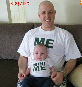 Family look like father like son outfits suit mother & kids dady boy cotton t shirt matching clothes me and mini me