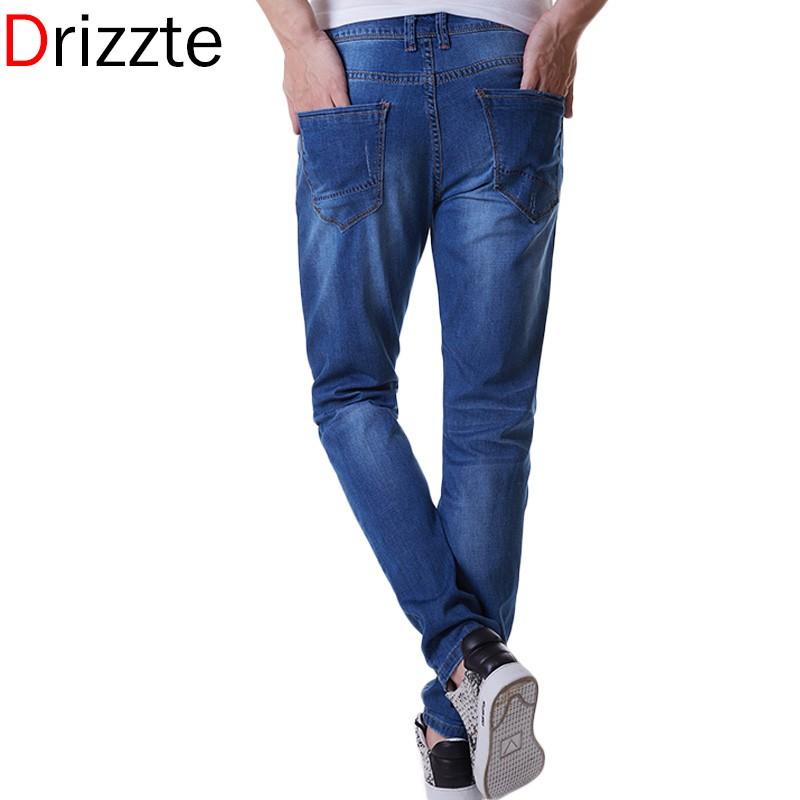 Drizzte бренд мужской летом стрейч легкие синий деним мода большой Большой размер от 28 до 40 42 44 46 48 для мужчин жан сельма жан