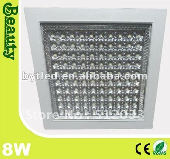 8w kitchen led ceiling light recessed mounted flat square smd3528 light