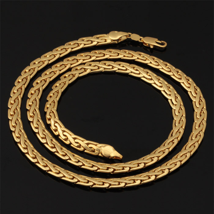 Gold Chain For Men 18k Plated Fashion Jewelry With 18K Stamp High Quality New Trendy Men Necklace Men's Jewelry Wholesale N636(China (Mainland))