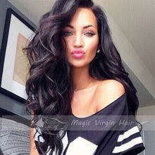 Brazilian Virgin Hair Body Wave Full Lace Human Hair Wigs For Black Women Lace Front Wigs Glueless Full Lace Wig(China (Mainland))