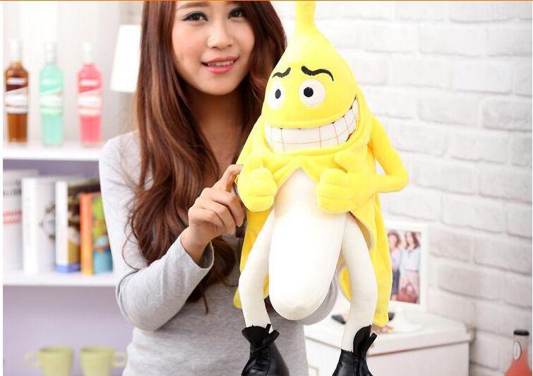 bad banana plush toy funny throw pillow toy ,birthday gift Christmas gift d491(China (Mainland))