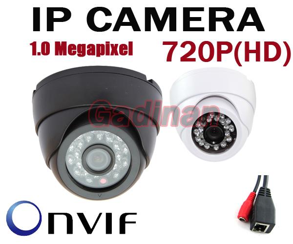1280*720P H.264 1.0 Megapixel HD ONVIF 2.0 IP Camera P2P Indoor 24pcs IR LEDs IR-CUT Night Vision Network Dome Camera(China (Mainland))