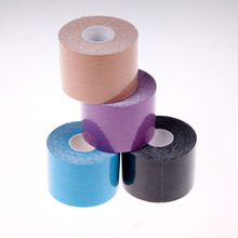 1 Roll 5m x 5cm Sports Tape Muscles Care Cotton Adhesive Muscle Bandage Physio Therapeutic Tape Strain Injury Support EA14(China (Mainland))