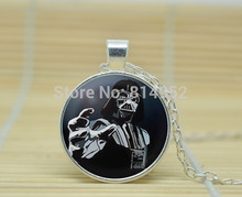 1pcs Star Wars Darth Vader Necklace glass Cabochon Necklace A3340